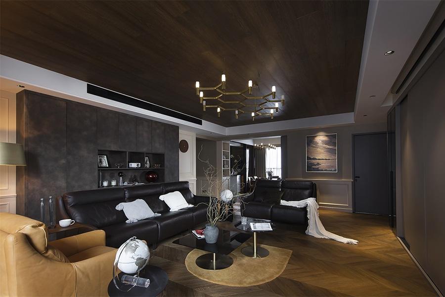 深圳华侨城散漫经典优雅摩登的客厅装修效果图 第1张