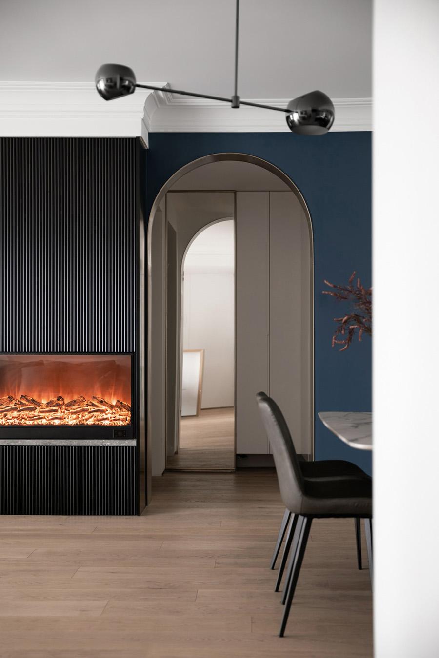 朗诗国际170㎡高级感现代客厅装修设计效果图 第8张